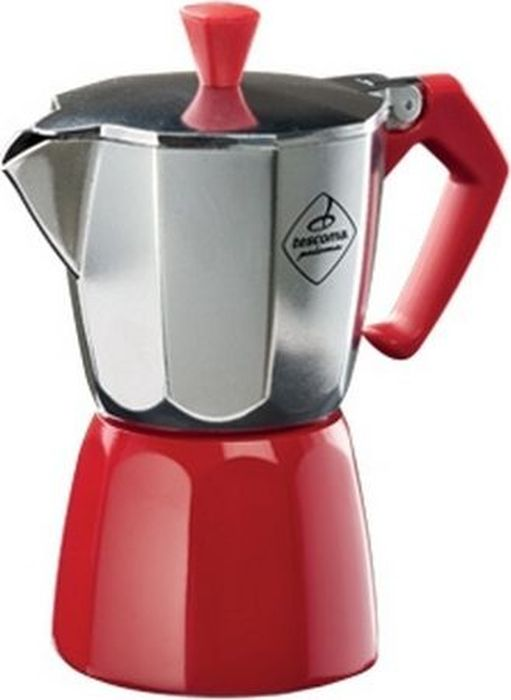 Кофеварка гейзерная Tescoma Paloma Colore, на 6 чашек, цвет: красный, серебристый647026Кофеварка Paloma Colore, 6 чашек. Производитель: Tescoma. Серия: Paloma. ColoreКлассическая коферка отлично подходит для приготовления традиционного эспрессо. Изготовлено из безопасного алюминия, который может вступать в контакт с пищевыми продуктами (EN 601), ручка из термостойкого пластика. Подходит для использования на газовых, электрических и стеклокерамических плитах. 3-летняя гарантия. Объем: 0,34.