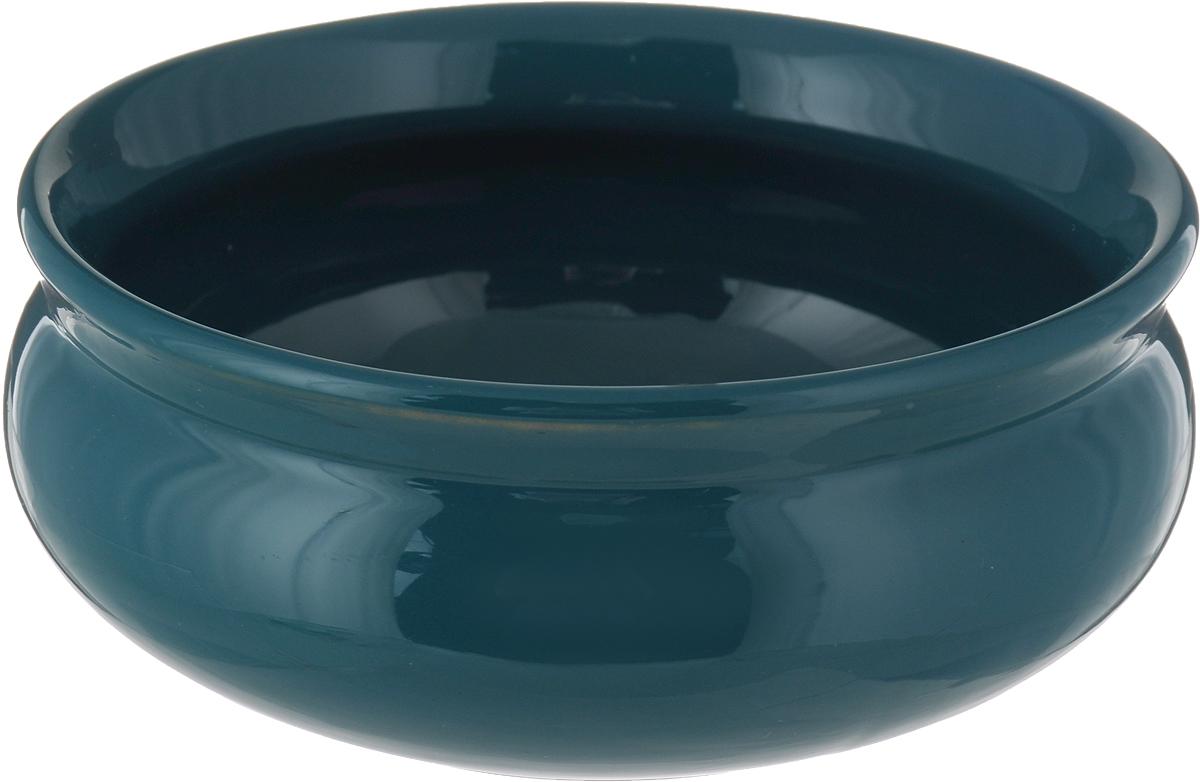"""Тарелка глубокая Борисовская керамика """"Скифская"""", цвет: изумрудный, 500 мл"""