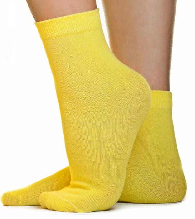 Носки женские Idilio, цвет: желтый. SW 07. Размер универсальный