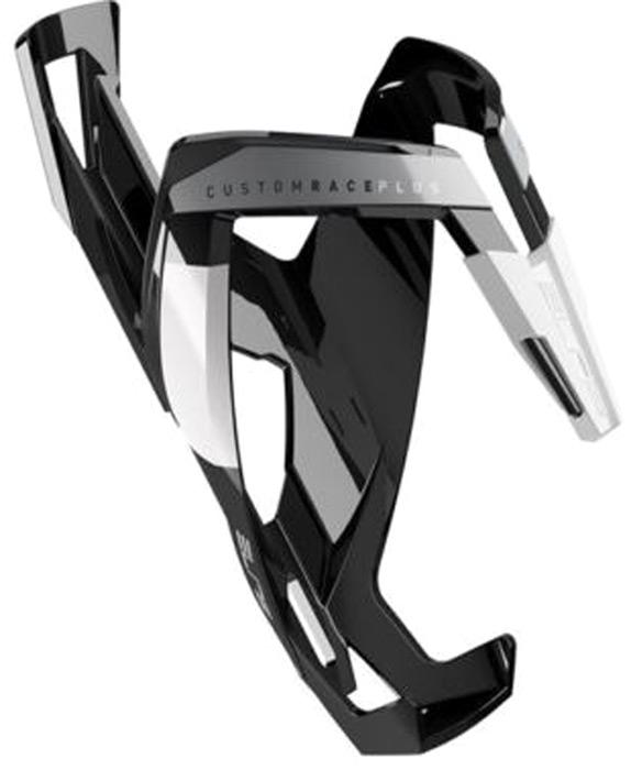 Флягодержатель Elite Custom Race Plus, цвет: черный, белый