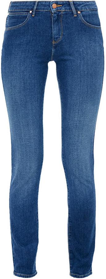 Джинсы женские Wrangler Slim, цвет: синий. W28LGR12M. Размер 34-32 (50-32) джинсы wrangler wrangler wr224ewbohs8