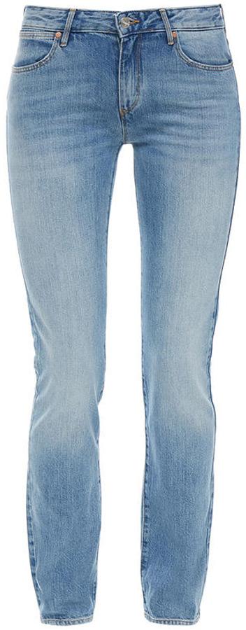 Джинсы женские Wrangler Straight, цвет: синий. W28TFH127. Размер 32-32 (48-32) джинсы женские wrangler цвет темно синий w27hcw51l размер 29 32 44 46 32
