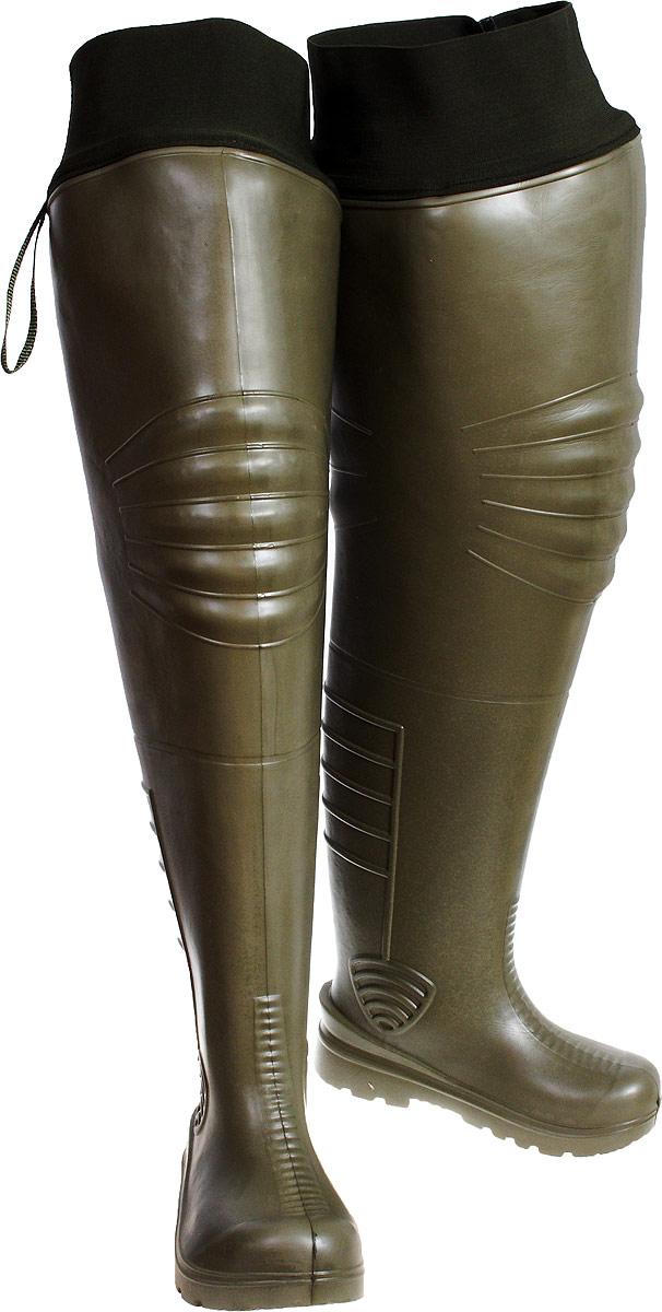 Сапоги болотные Колесник, цвет: оливковый. 501. Размер 42/43501-4243• Сохраняют форму и не деформируются • Мягкие, можно стоять на коленях при рыбылке, сгибать ноги под разным углом, менять наклон• Легкие, не отяжеляют ногу• Сохраняют вентиляцию - благодаря удержанию формы• Не скользят - в отличие от изделий из резины, у данных сапог прекрасное сцепление с любой, даже самой скользкой поверхностью• Компактные: можно легко сложить и убрать в рюкзак, сумку• Идеальный вариант для холодного климата, особенно в межсезонье, укомплектованы резинкой-затяжкой, плотно держатся на ноге •Резинка предотвращает попадание воды и снега в сапог.