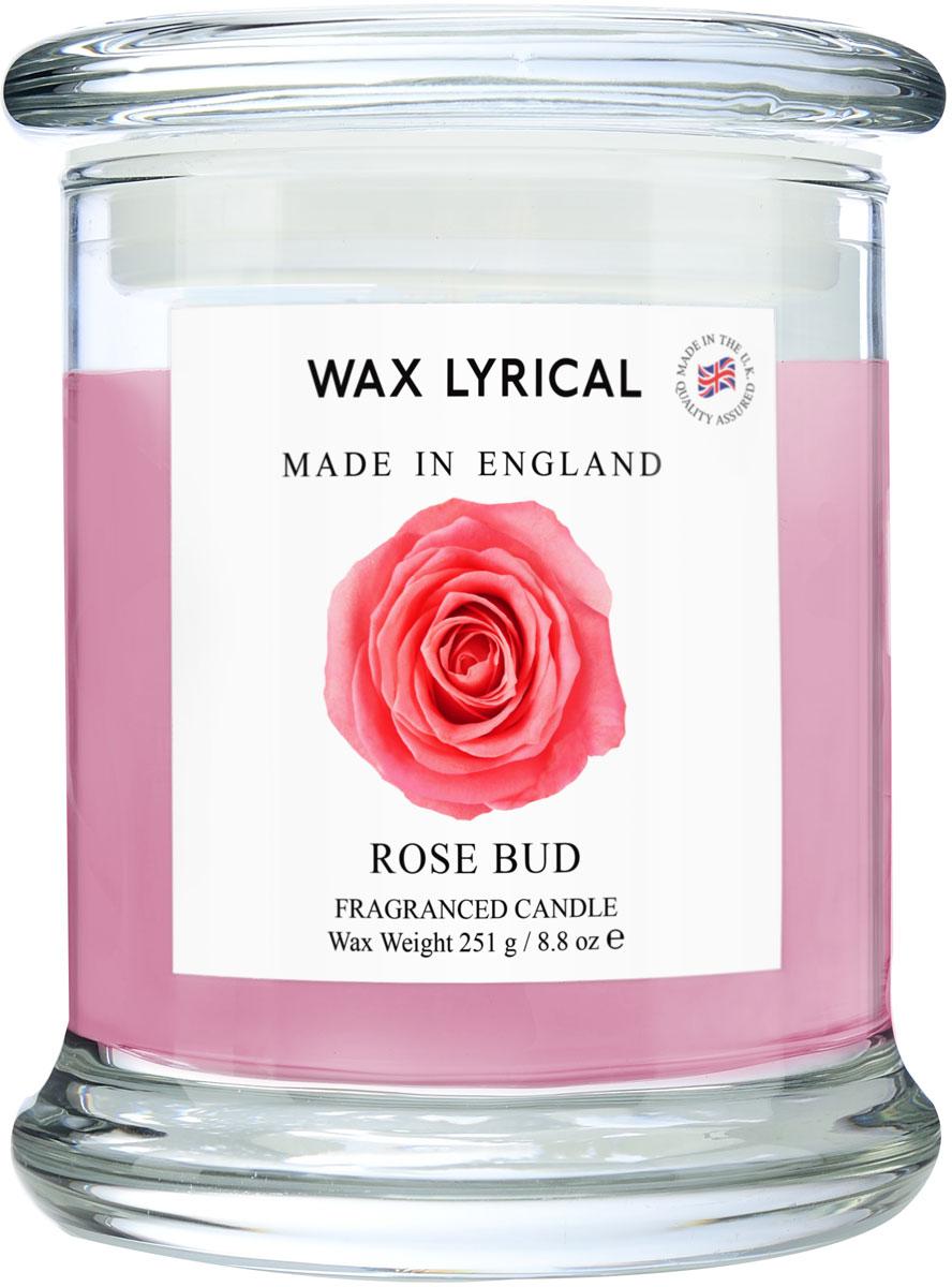 """Свеча ароматическая Wax Lyrical """"Роза. Сделано в Англии"""" в стекле.  Истинно английский свежий аромат букета роз и гардений.  Как пользоваться свечами? Перед каждым зажжением свечи подрезайте фитиль, его оптимальная высота 5-6 мм; при первом зажигании, дайте поверхности свечи полностью расплавиться; ставьте зажженную свечу на ровную поверхность."""
