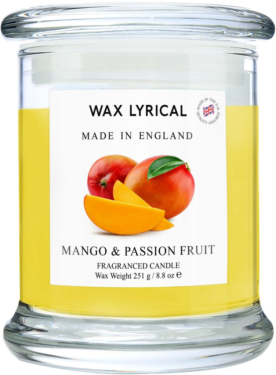 Свеча ароматическая Wax Lyrical Манго и маракуйя. Сделано в Англии, 8 x 8 x 12,5 см свеча столб ароматическая spaas папайя 15 8 см