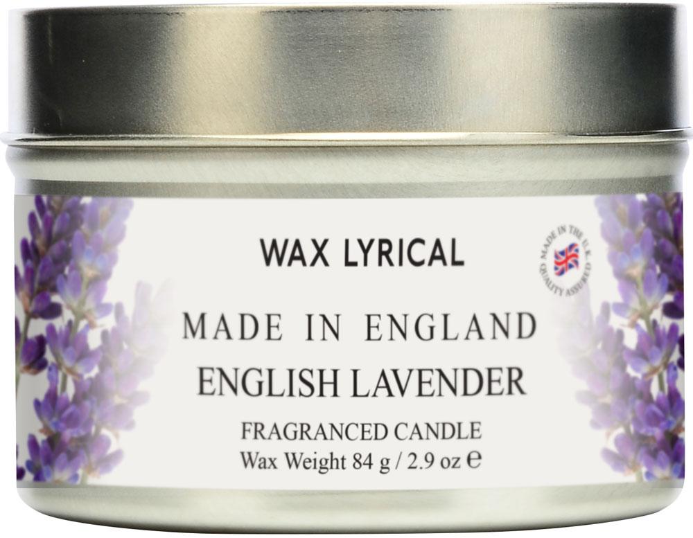 """Свеча ароматическая Wax Lyrical """"Лаванда. Сделано в Англии"""" в алюминиевой банке.  Расслабляющая композиция с сердцем из бобов тонка, пачули и лаванды.  Началом аромата служат ноты эвкалипта и бергамота, в основу вxодят мягкие аккорды мxа и древесно-мускусные нюансы.  Как пользоваться свечами? Перед каждым зажжением свечи подрезайте фитиль, его оптимальная высота 5-6 мм; при первом зажигании, дайте поверхности свечи полностью расплавиться; ставьте зажженную свечу на ровную поверхность."""
