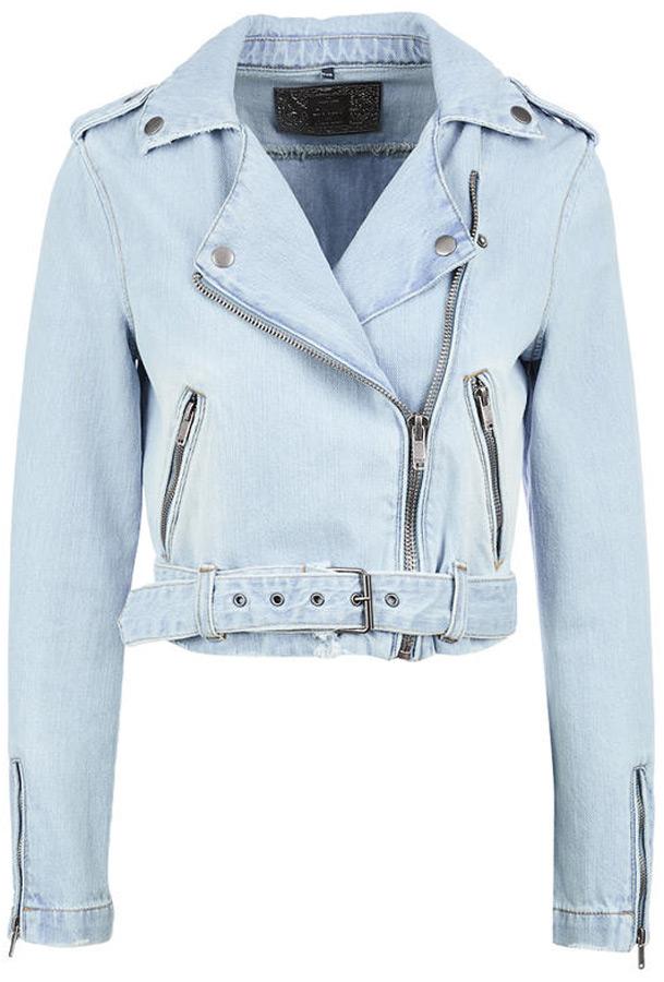 Куртка женская Only, цвет: синий. 15148404_Light Blue Denim. Размер 36 (42)15148404_Light Blue DenimЛегкая джинсовая куртка-косуха от Only выполнена из натурального хлопкового денима. Модель с длинными рукавами застегивается на асимметричную молнию, по бокам дополнена карманами на молниях. По низу куртки имеется ремень с пряжкой.