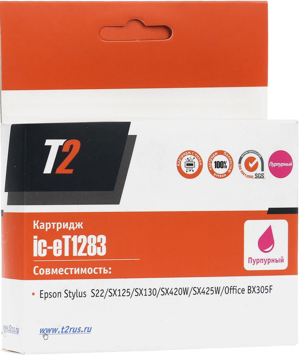 T2 IC-ET1283 (аналог T12834010), Magenta картридж для Epson Stylus S22/SX125/SX130/SX420W/SX425W/Office BX305F картридж profiline pl 1281 black для epson styluss22 sx125 sx130 sx420w sx425w office bx305f bx305fw