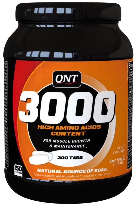 QNT Аминокислоты 3000, 300 таблеток l карнитин qnt 3000 25 мл 20 ампул