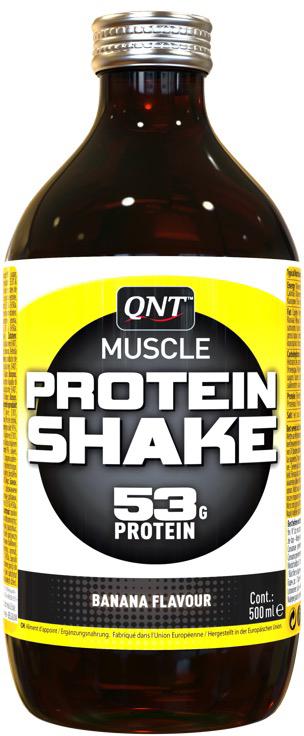 Протеин QNT Shake, банан, 500 мл. QNT1005 протеин qnt белковая смесь easy body protein банан клубника 350 г