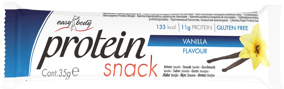 QNT Батончик Easy Body Bar, ваниль, 35 гEB00392Во время белковой диеты, батончики Easy Body с тонким шоколадным покрытием идеальная закуска для тех, кто следит за своим весом. Каждый батончик содержит около 10 гр Как повысить эффективность тренировок с помощью спортивного питания? Статья OZON Гид