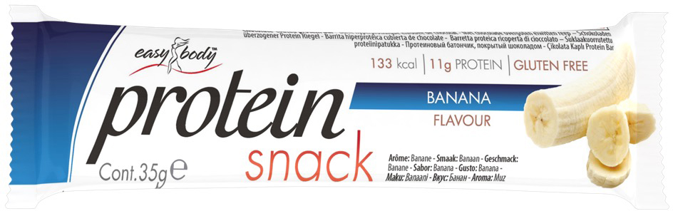 QNT Батончик Easy Body Bar, банан, 35 г батончики спортивные академия т батончик champions high protein bar 40 г шоубокс 16 шт