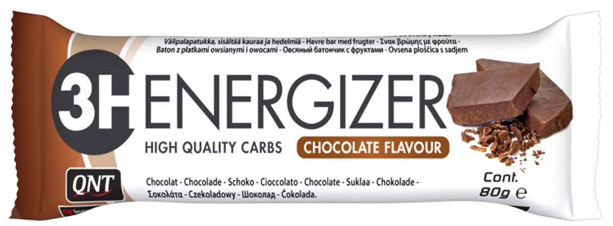 QNT Энергетический тортик Energizer Bar 3H, шоколад, 80 г