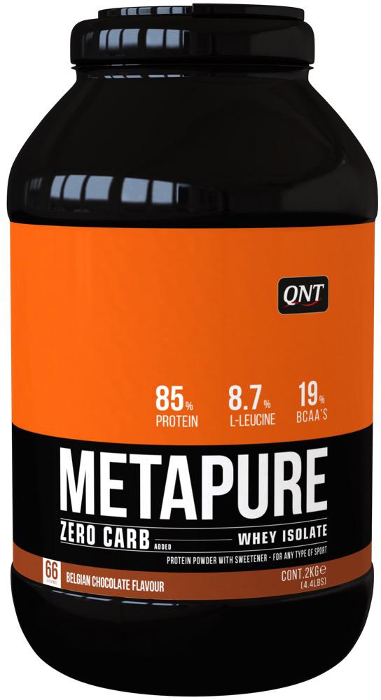 Изолят QNT Metapure Zero Carb, вкус: шоколад, 2 кгNB01095Metapure Zero Carb изготовлен из изолята сывороточного протеина, самой чистой формы протеина существующей на рынке. Изолят состоит из простых аминокислот и из большого количества аминокислот с разветвленными боковыми цепями (ВСАА). Они являются наиболее важными для восстановления и роста мышц.QNT Metapure Zero Carb быстро и полностью растворяется в воде, без образования комочков или осадка. Это чистейший изолят без жиров, холестерина, лактозы и углеводов. Metapure Zero Carb абсорбируется и усваивается организмом быстрее любой белковой формулы. Whey Protein Isolate (Milk, Traces Of Soya), Flavour, Sweetener E955. Allergen Information: Milk, Traces Of SoyaКак повысить эффективность тренировок с помощью спортивного питания? Статья OZON Гид