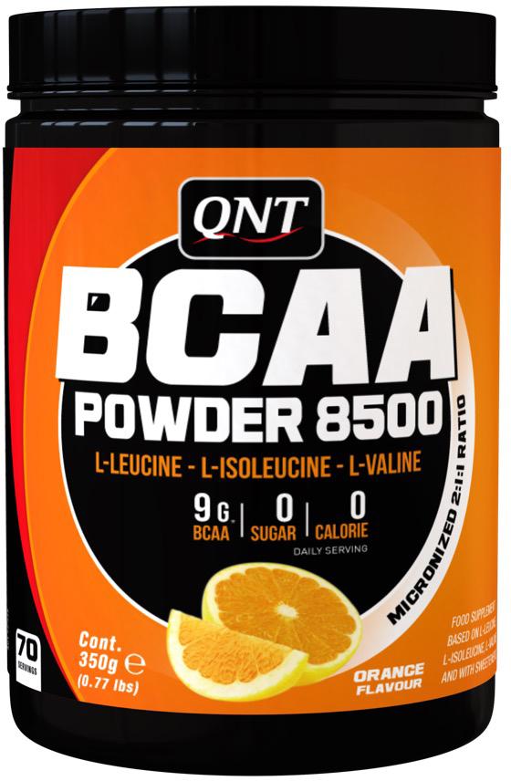 Аминокислоты QNT BCAA 8500, апельсин, 350 г аминокислоты qnt amino acid 3000 мг 100 таблеток