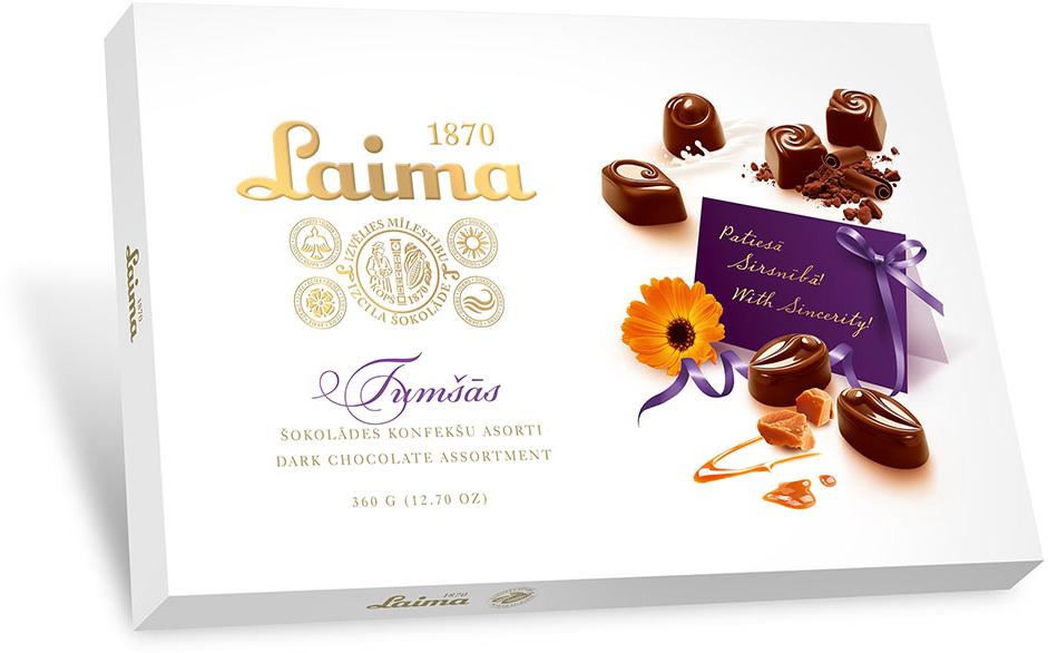 Laima Ассорти конфет в темном шоколаде, 360 г bigshock coko соевый энергетический батончик в темном шоколаде 65 г