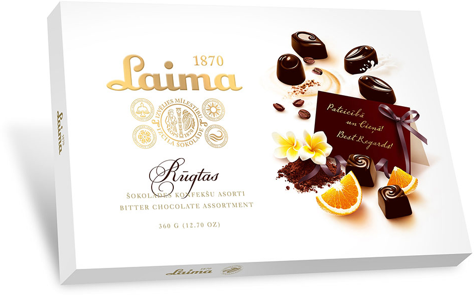 Laima Ассорти конфет в горьком шоколаде, 360 г bodybar батончик протеиновый 22% со вкусом крем брюле в горьком шоколаде 50 г