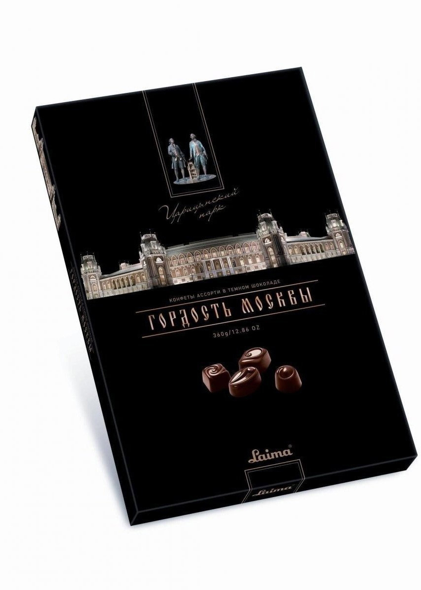 Laima Царицино Ассорти конфет в темном шоколаде, 360 г декор с коробкой конфет 3