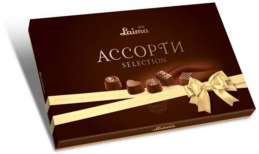 Laima Классика Ассорти конфет мини, 190 г laima серенада конфеты с фруктовым желе абрикосами и фундуком 160 г