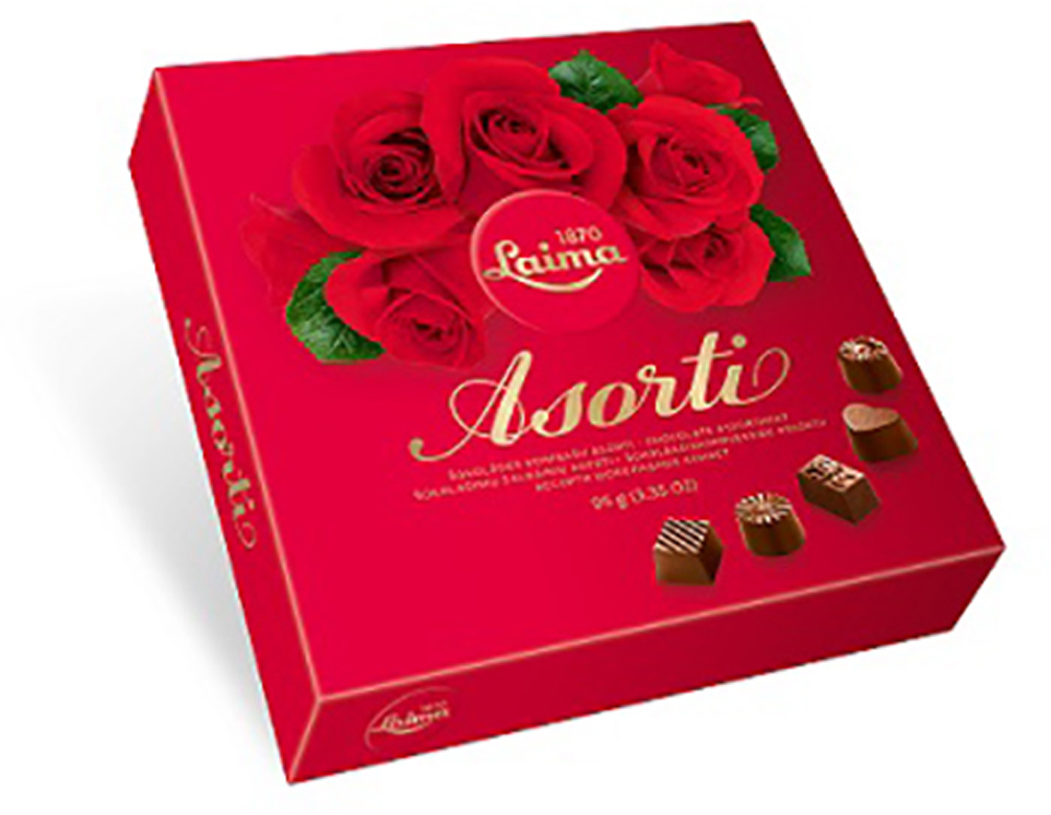 Laima Роза Ассорти шоколадных конфет, 95 г lord ассорти шоколадных конфет с начинкой 250 г