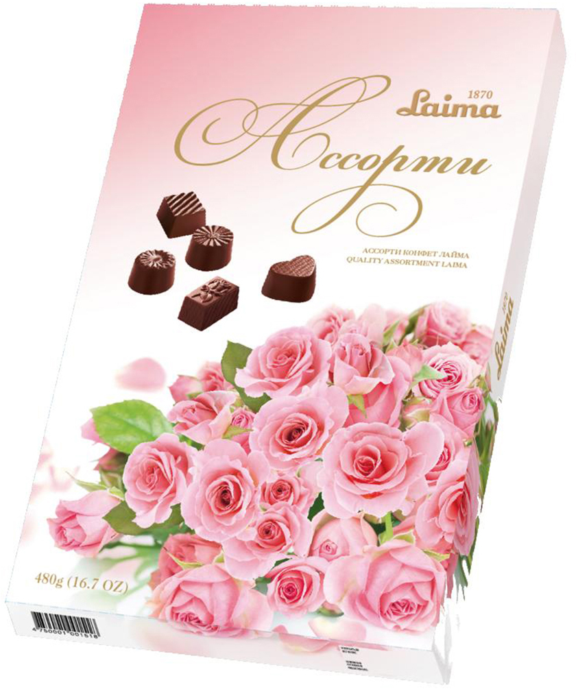 Laima Шары ассорти конфет, 480 г laima серенада конфеты с фруктовым желе абрикосами и фундуком 160 г