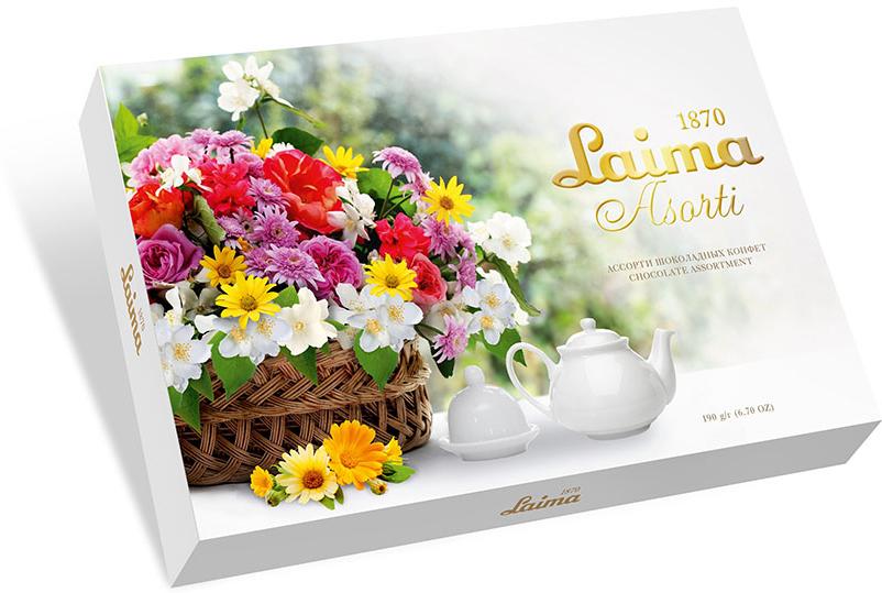 Laima Корзина цветов Ассорти конфет, 190 г laima классика ассорти конфет мини 190 г