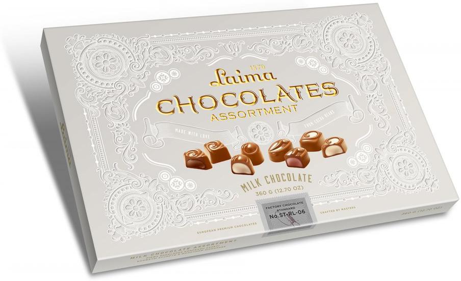 Laima Книги Ассорти конфет в молочном шоколаде, 215 г разветвитель прикуривателя rolsen rpa 12p4u