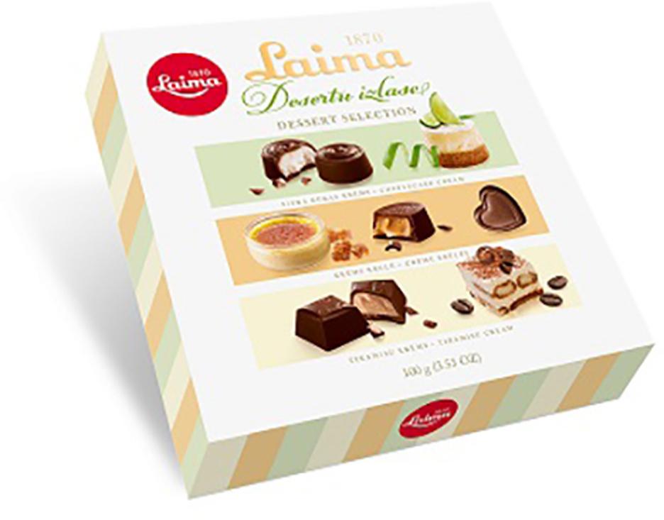 Laima Со вкусами самых популярных десертов Ассорти шоколадных конфет, 100 г крем тирамису d r oetker 64 гр