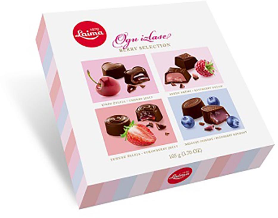 Laima С ягодными начинками Ассорти шоколадных конфет, 105 г laima классика ассорти конфет мини 190 г