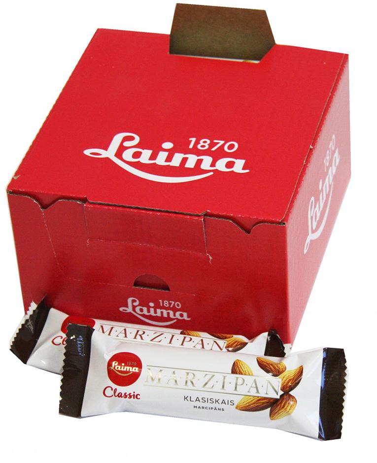 Laima Конфета марципановая шоколадный батончик, 40 г bigshock coko соевый энергетический батончик в темном шоколаде 65 г