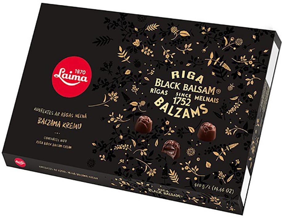 Laima С Рижским бальзамом Набор конфет в темном шоколаде, 420 г laima классика ассорти конфет мини 190 г