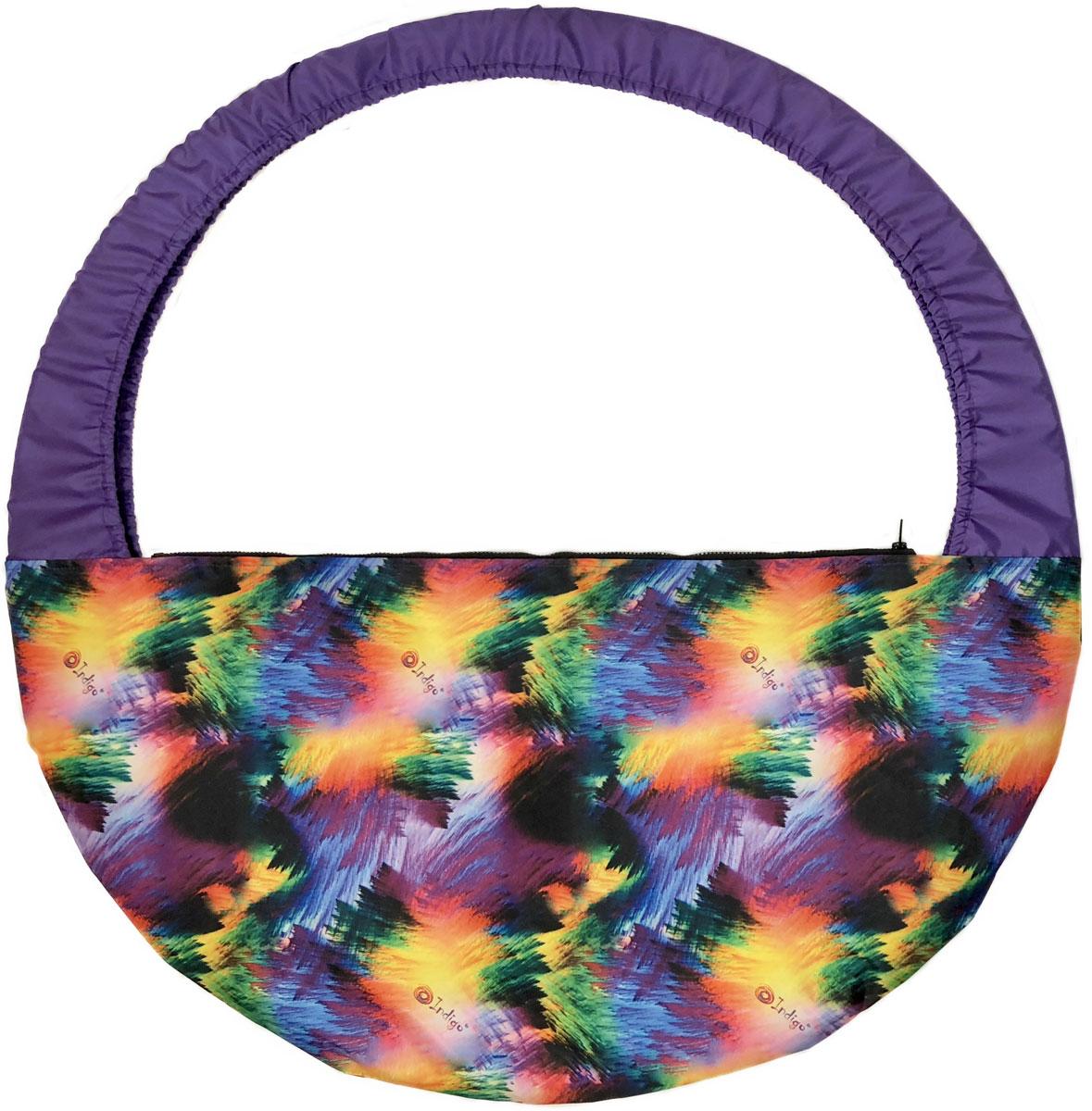 """Сумка-чехол для обруча Indigo """"Гламур"""", цвет: разноцветный, диаметр 60 х 90 см"""