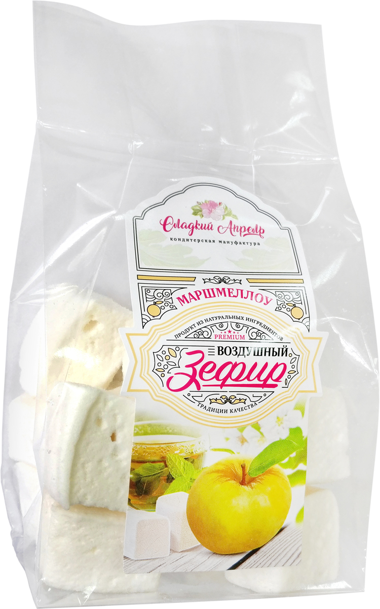 Сладкий Апрель Маршмеллоу со вкусом ванили, 125 г roberto хлеб из муки твердых сортов пшеницы 400 г