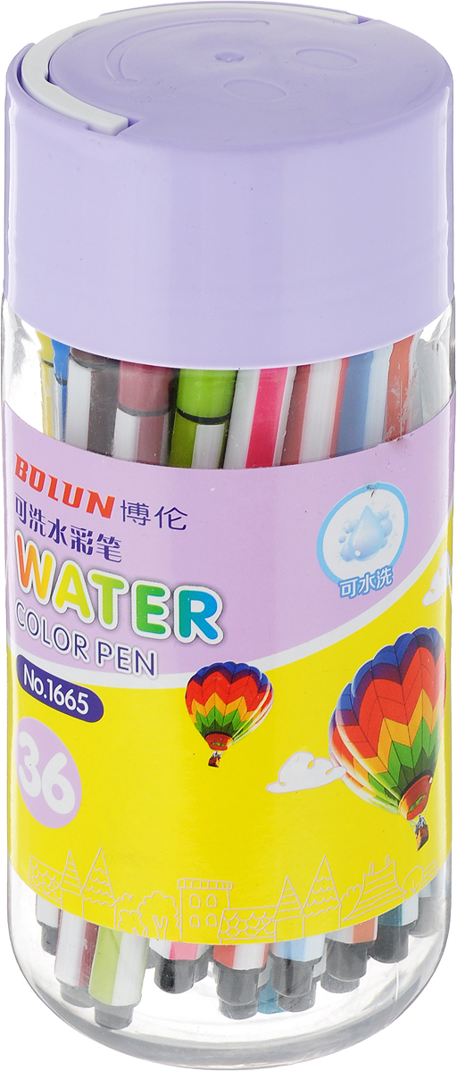 Набор фломастеров Смайл цвет упаковки сиреневый 36 цветов 28704862870486_сиреневый