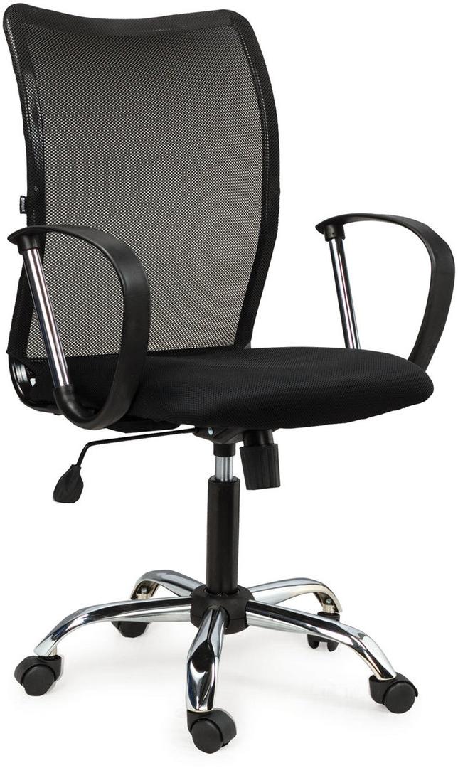 Кресло оператора Brabix Spring MG-308, с подлокотниками, цвет: черный кресло офисное brabix heavy duty hd 001 экокожа 531015