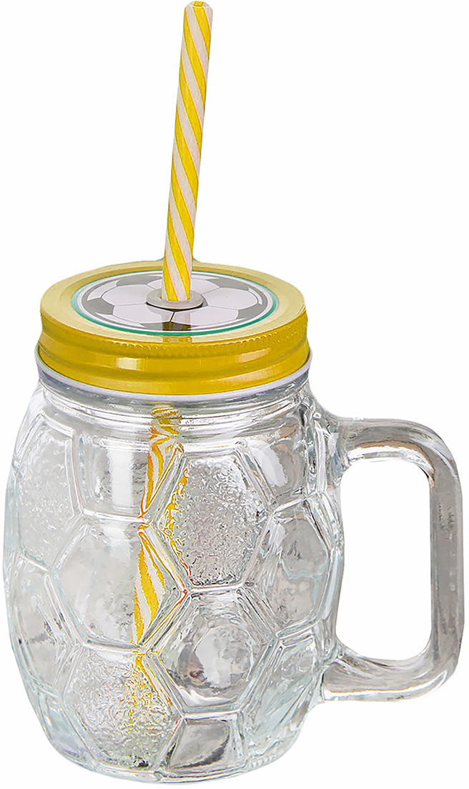 Банка Мяч, с ручкой и трубочкой, цвет: желтый, 500 мл2839529_желтыйОт качества посуды зависит не только вкус еды, но и здоровье человека. Банка - товар, соответствующий российским стандартам качества. Любой хозяйке будет приятно держать его в руках. С данной посудой и кухонной утварью приготовление еды и сервировка стола превратятся в настоящий праздник.