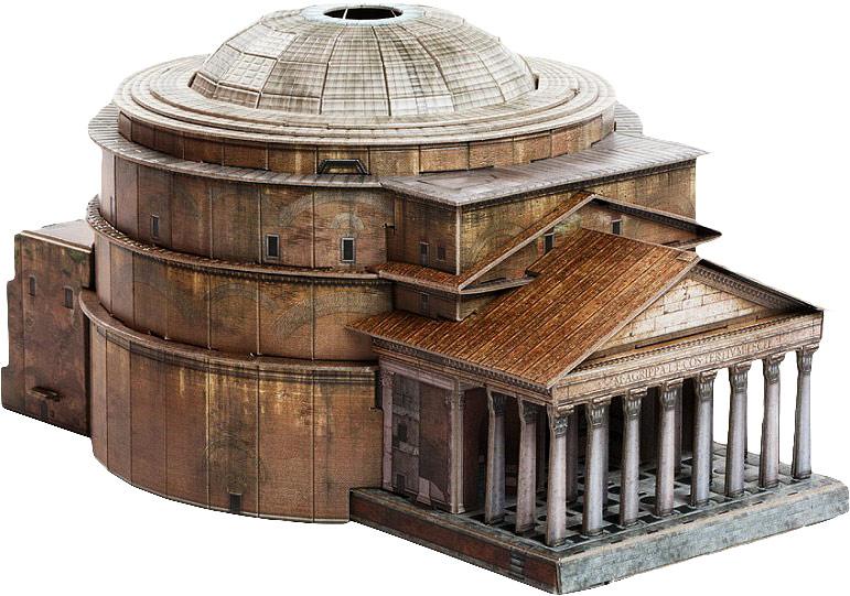 Умная Бумага Сборная модель Римский Пантеон