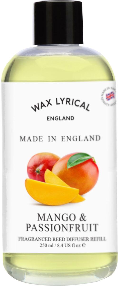 Наполнитель для ароматического диффузора Wax Lyrical Манго и маракуйя. Сделано в Англии, 250 млWLE1248Чарующий аромат экзотических фруктов, безукоризненно подчеркнет благоухание атмосферы в доме.Дополнительная ароматическая жидкость для диффузора.