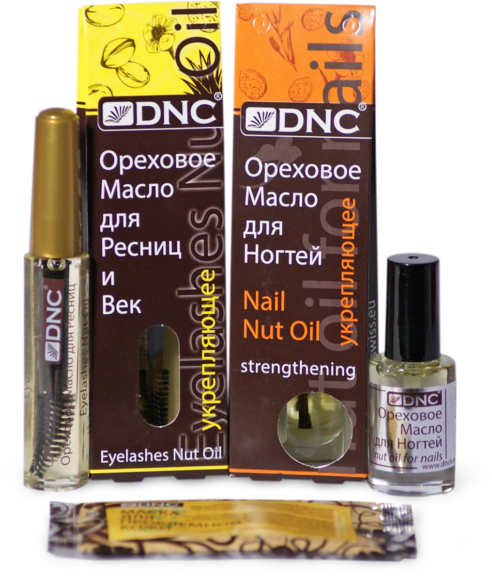DNC Набор: Ореховое масло для ресниц укрепляющее, 12 мл; Ореховое масло для ногтей укрепляющее, 6 мл + Подарок Маска для лица, 15 мл цена