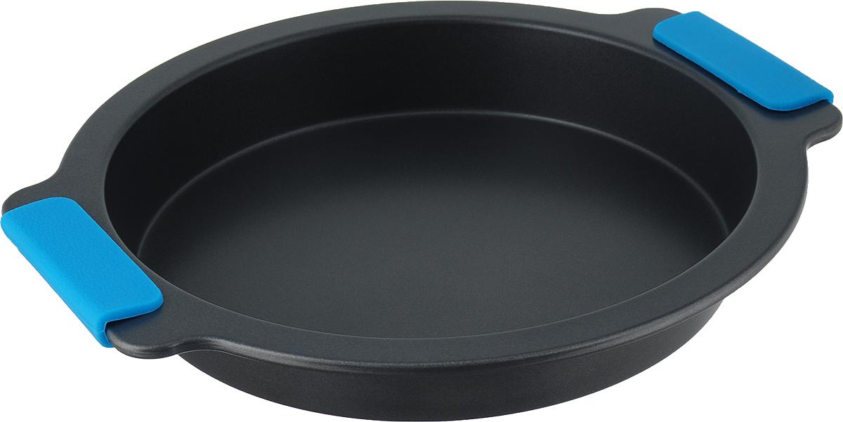 """Форма для выпечки """"Travola"""" выполнена из углеродистой стали и станет незаменимым предметом на кухне любой хозяйки. С качественной посудой радовать домашних пирогами, кексами, запеканками и прочей вкуснятиной вы сможете хоть каждый день! Форма равномерно распределяет тепло по всей внутренней поверхности, предотвращает пригорание пищи и способствует ее быстрому приготовлению. Еще более удобным процесс готовки делают специальные силиконовые ручки. При приготовлении пищи в форме пользоваться только деревянными аксессуарами. Внутренний диаметр: 23,3 см. Общий размер формы (с учетом ручек): 29,2 х 26,5 х 4 см."""