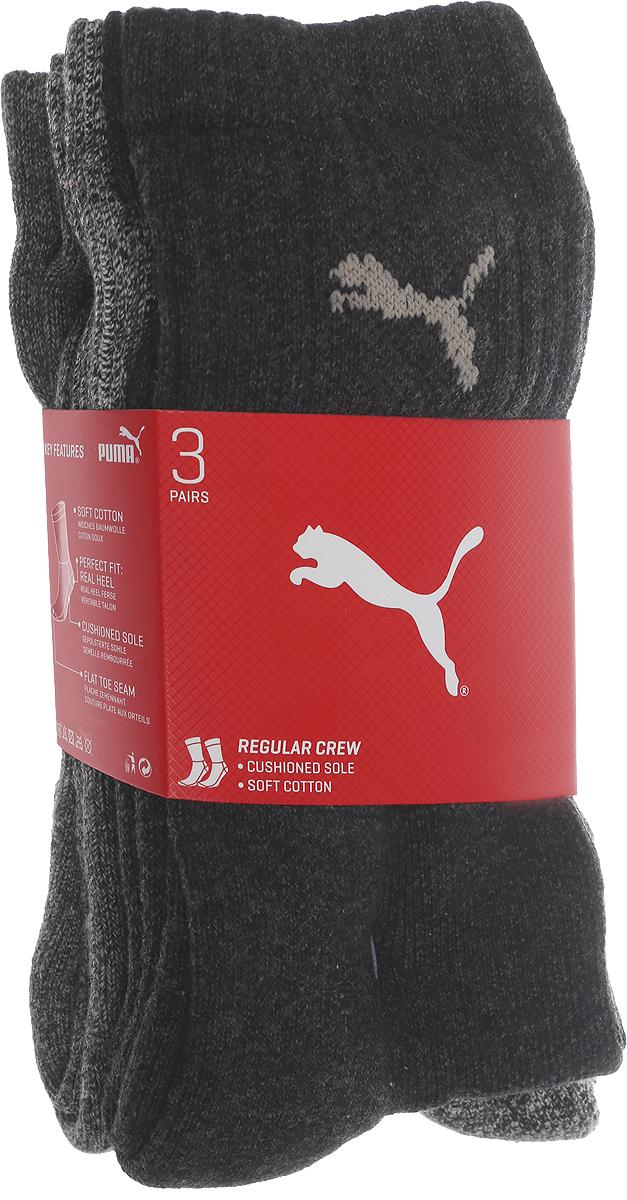 Носки мужские Puma Sport, цвет: серый, 3 пары. 88035505. Размер 47/49 носки мужские puma sport цвет черный 3 пары 88035501 размер 47 49