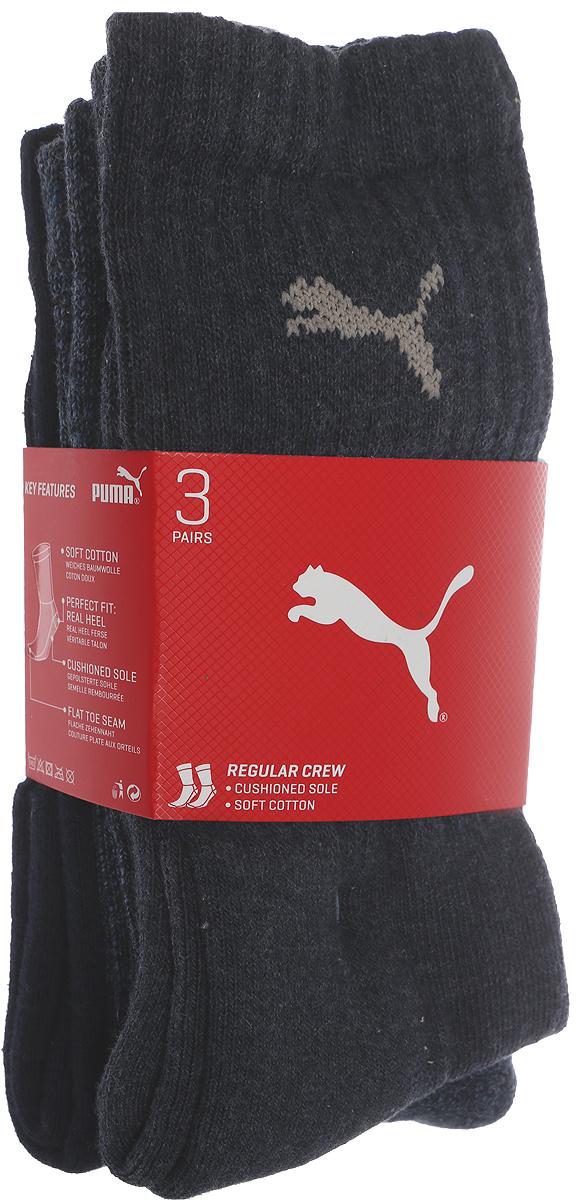 Носки мужские Puma Sport, цвет: синий, 3 пары. 88035503. Размер 47/49 носки мужские puma sport цвет черный 3 пары 88035501 размер 47 49
