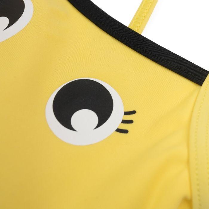 Купальник слитный для девочки PlayToday Baby, цвет:  желтый.  288023.  Размер 74 PlayToday