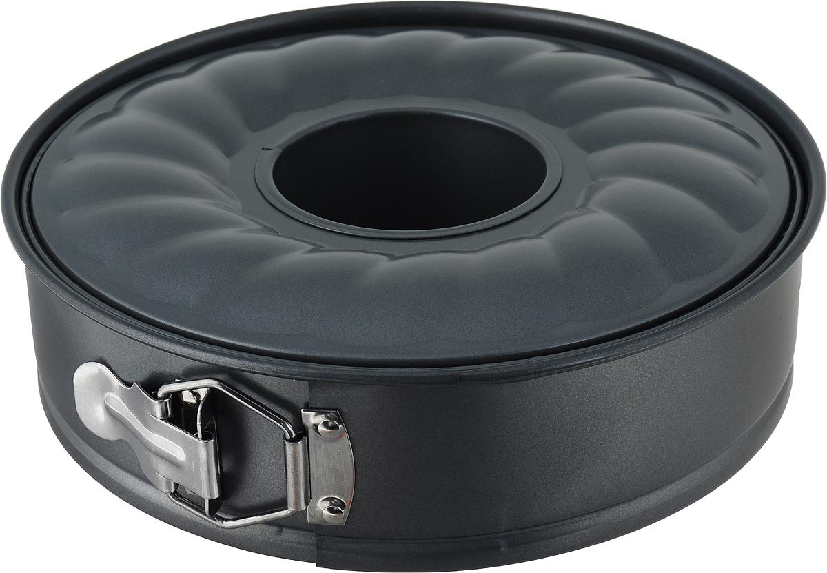 Форма для выпечки Travola, разъемная, с двумя основаниями, диаметр 24 см. KCM5168BKCM5168BКруглая форма для выпечки Travola изготовлена из высококачественной углеродистой стали.Стальные стенки посуды быстро распределяют тепло, благодаря чему выпечка пропекается равномерно. Для чистки нельзя использовать абразивные чистящие средства и жесткие губки.В комплект входят два основания, с помощью одного можно выпечь пирог, с помощью другого кекс. Разъемная конструкция позволяет легко извлечь готовое блюдо. Подходит для использования в духовках. Не подходит для использования в СВЧ и в морозильной камере. Внутренний диаметр формы: 23,5 см.