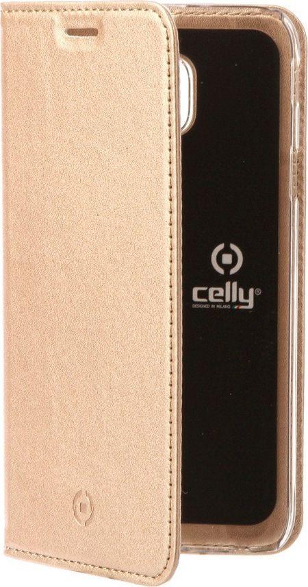 Celly Air Case чехол для Samsung Galaxy A8+, Gold аксессуар чехол samsung galaxy s8 celly air case black air690bkcp