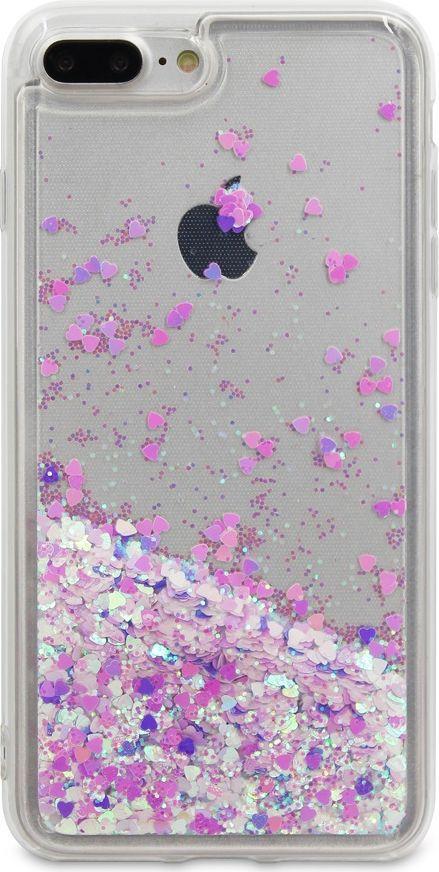 купить DYP Liquid Case Hearts чехол для Apple iPhone 7/8 Plus, Pink Silver по цене 414 рублей