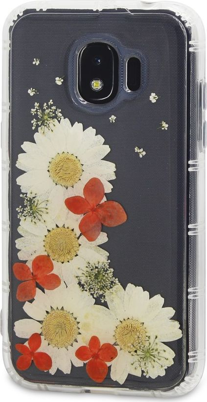 DYP Flower Case чехол для Samsung Galaxy J2 (2018), TransparentDYPCR00039Чехол DYP Flower Case надежно защитит ваше устройство от внешних воздействий. Идеально прилегая к устройству, он сохранит свободный доступ к элементам управления, камере и разъему зарядки. Элегантный дизайн сочетающий в себе живые цветы, придется по вкусу любому пользователю смартфонов. Благодаря высококачественным материалам изготовления обеспечивается защита от царапин как внутри, так и снаружи чехла.