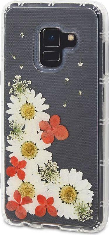 DYP Flower Case чехол для Samsung Galaxy A8 (2018), TransparentDYPCR00041Чехол DYP Flower Case надежно защитит ваше устройство от внешних воздействий. Идеально прилегая к устройству, он сохранит свободный доступ к элементам управления, камере и разъему зарядки. Элегантный дизайн сочетающий в себе живые цветы, придется по вкусу любому пользователю смартфонов. Благодаря высококачественным материалам изготовления обеспечивается защита от царапин как внутри, так и снаружи чехла.