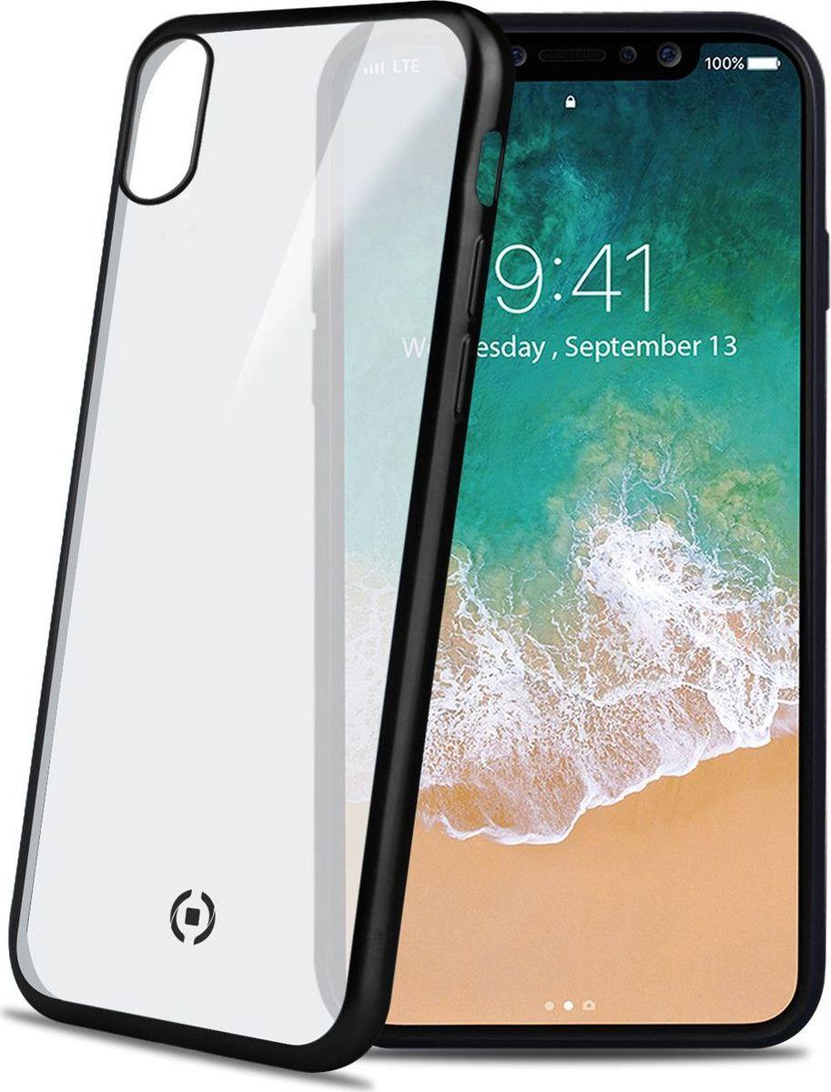 Celly Laser Matt чехол для Apple iPhone X, Transparent BlackLASERMATT900BKЧехол-накладка Celly Laser Matt защитит Ваш смартфон от падения и повреждений, предотвратит появление царапин на корпусе. Чехол-накладка не увеличивает размеры смартфона, но при этом надежно защищает его, к тому же у этой накладки матовая поверхность, которая снижает скольжение телефона в руке, а черная окантовка подчеркнет внешность устройства.