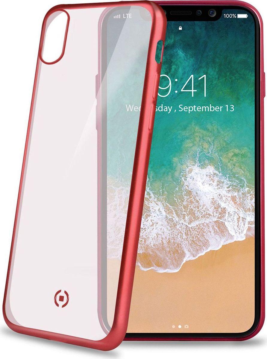 Celly Laser Matt чехол для Apple iPhone X, Transparent RedLASERMATT900RDЧехол-накладка Celly Laser Matt защитит Ваш смартфон от падения и повреждений, предотвратит появление царапин на корпусе. Чехол-накладка не увеличивает размеры смартфона, но при этом надежно защищает его, к тому же у этой накладки матовая поверхность, которая снижает скольжение телефона в руке, а красная окантовка подчеркнет внешность устройства.